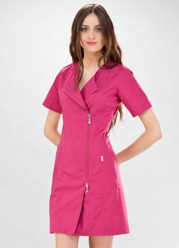 pas cher pour réduction dc354 edca5 Blouse esthéticienne rose Dana couture